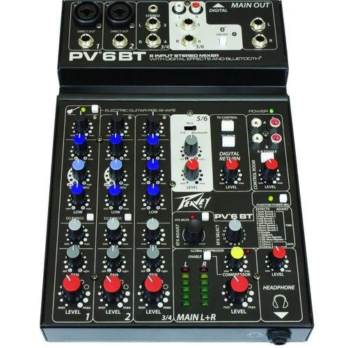 Peavey Peavey PV 6 BT Mixer w/Bluetooth & Effects
