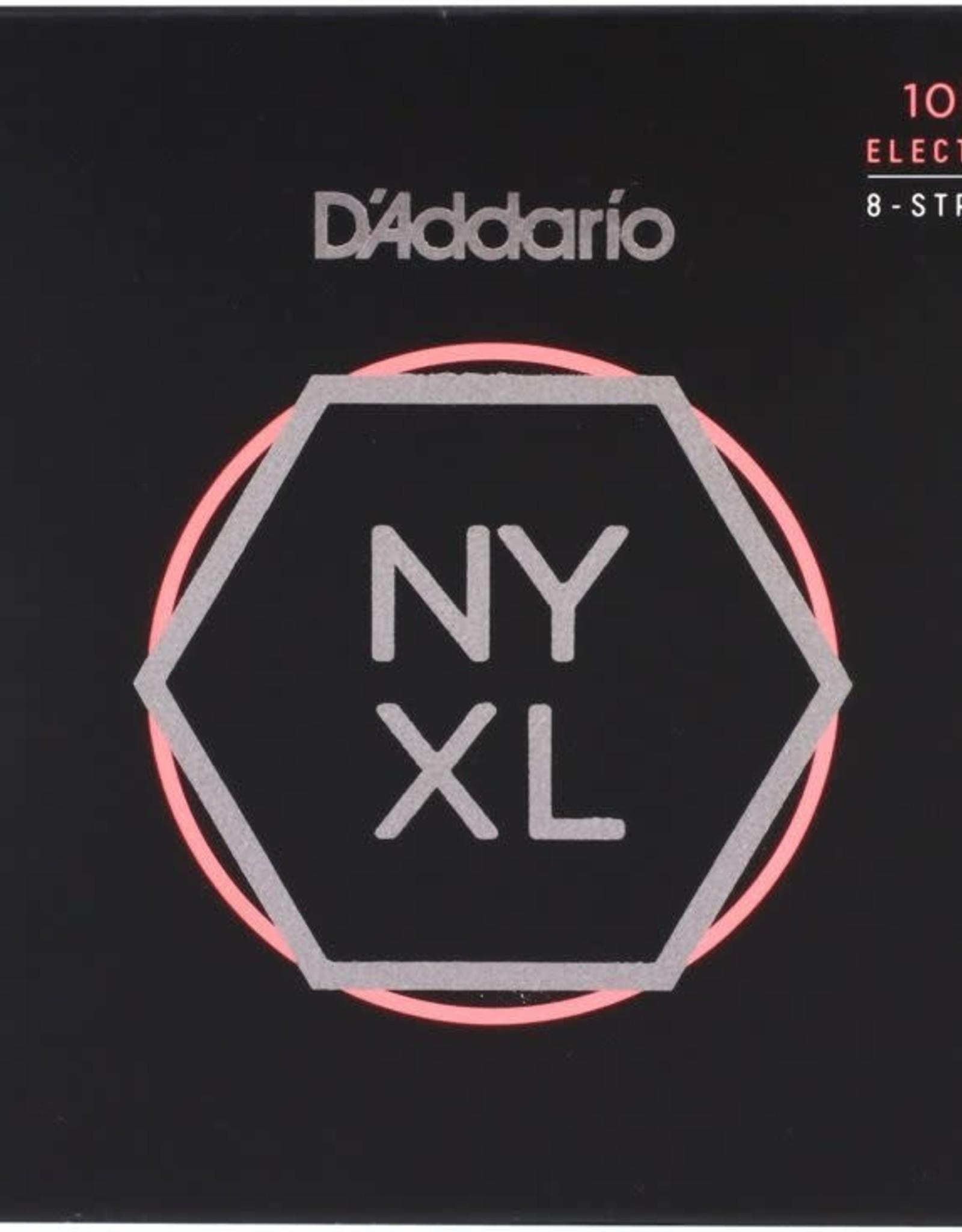 D'Addario D'Addario NYXL1074 Nickel Wound 8-String Electric Guitar Strings, Light Top / Heavy Bottom, 10-74