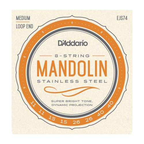 D'Addario D'Addario EJS74 Mandolin Strings, Phosphor Bronze, Stainless Steel, 11-40