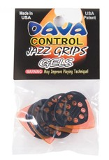 Dava Dava Jazz Grips Gels, 6 Picks, Orange