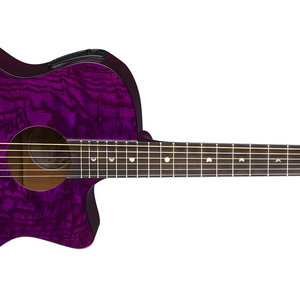 Luna Guitars Luna Gypsy Quilt Ash A/E Trans Purple