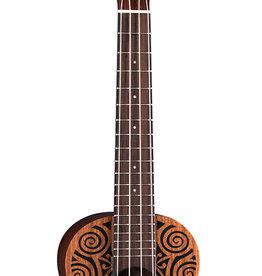 Luna Luna Tribal Mahogany Concert Ukulele