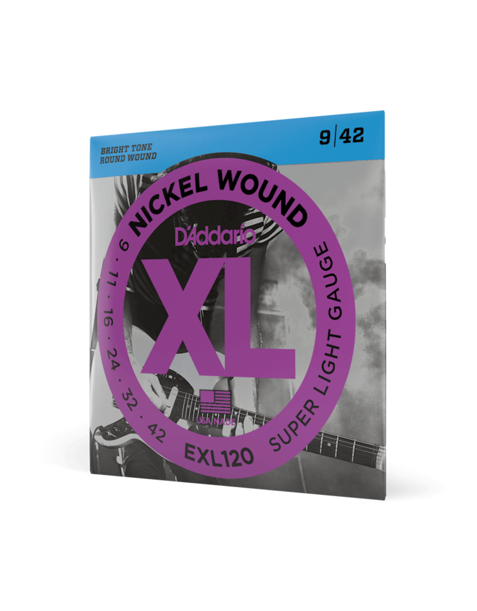 D'Addario D'Addario EXL120 Nickel Wound Electric Guitar Strings, Super-Light, 09-42