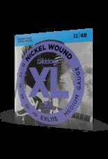 D'Addario D'Addario EXL115 Nickel Wound Electric Guitar Strings, Medium/Blues-Jazz Rock, 11-49
