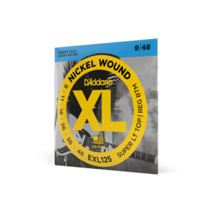 D'Addario D'Addario EXL125 Nickel Wound Electric Guitar Strings, Super Light Top/Regular Bottom, 09-46