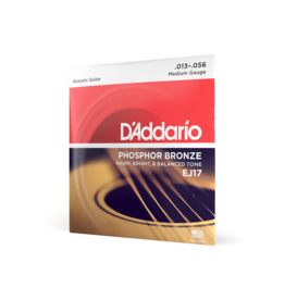 D'Addario D'Addario EJ17 Phosphor Bronze Acoustic Guitar Strings, Medium, 13-56