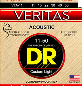 DR DR VERITAS™ - Coated Core Technology Acoustic Guitar Strings: Custom Light 11-50