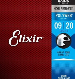 Elixir Elixir Banjo Nickel Plated Steel Strings, Light - .009-.020