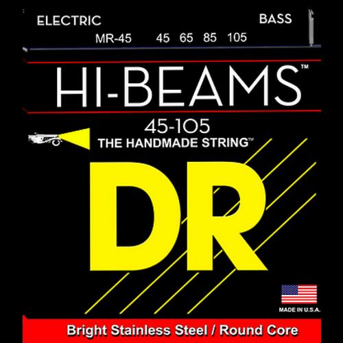 DR DR Hi-Beam Stainless Steel Bass Strings: Medium 45-105
