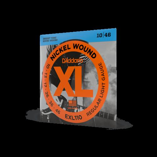 D'Addario D'Addario EXL110 Nickel Wound Electric Guitar Strings, Regular Light, 10-46