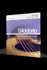 D'Addario D'Addario EJ26 Phosphor Bronze Acoustic Guitar Strings, Custom Light, 11-52