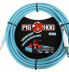 "Pig Hog Pig Hog ""Daphne Blue"" Instrument Cable, 20ft Right Angle"