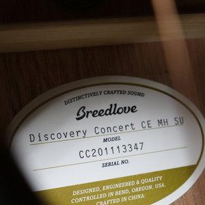 Breedlove Breedlove Discovery Concert Suede CE Mahogany-Mahogany