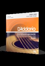 D'Addario D'Addario EJ41 12-String Phosphor Bronze Acoustic Guitar Strings, Extra Light, 9-45
