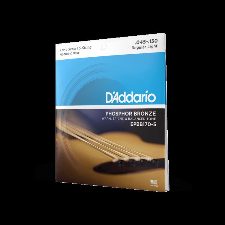 D'Addario D'Addario 5-String Acoustic Bass Long Scale Strings .045-.130