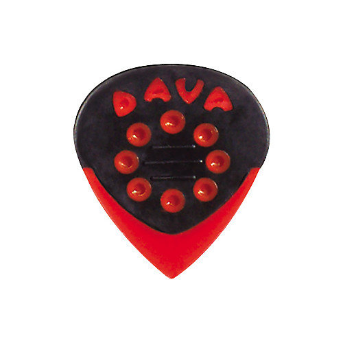 Dava Jazz Grips Delrin, 6 Picks, Red