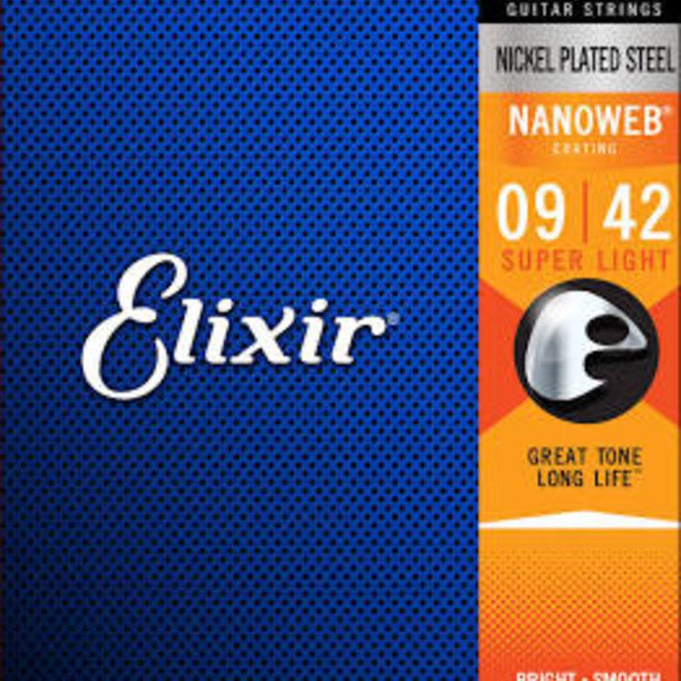 Elixir Elixir Nanoweb Electric Guitar Strings - Super Light 9-42
