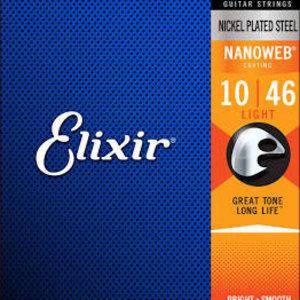 Elixir Elixir Nanoweb Light 10-46 Electric Guitar Strings