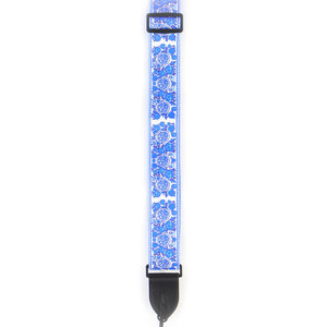 Poly Guitar Strap - Blue Flowers