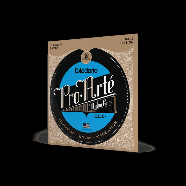 D'Addario D'Addario Classical Hard Tension, Silverplated Wound, Black Treble EJ50 Strings
