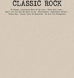 Hal Leonard Hal Leonard: Budget Books: Classic Rock for Piano/Vocal/Guitar