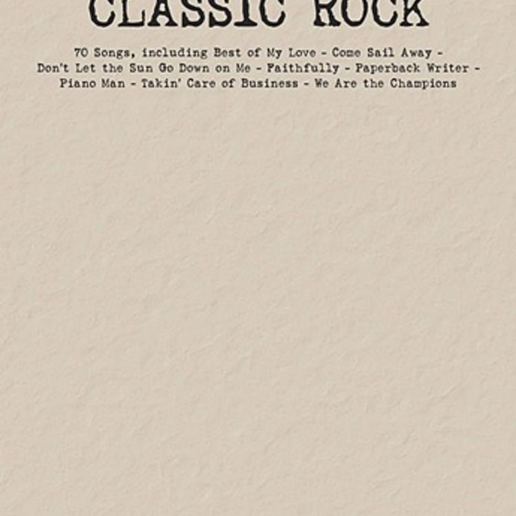 Hal Leonard Hal Leonard: Budget Books: Classic Rock for Piano/Vocal/Guitar