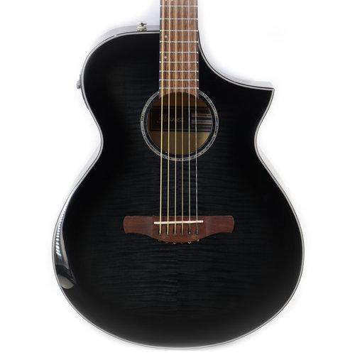 Ibanez Ibanez AEWC400TKS Acoustic Guitar in Transparent Black Sunburst High Gloss