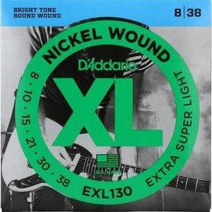 D'Addario D'Addario EXL130 Nickel Wound Electric Guitar Strings, Extra-Super Light, 08-38