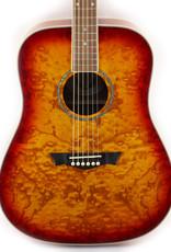Dean Dean AXS Dread Quilt Ash Tobacco Sunburst Acoustic Guitar