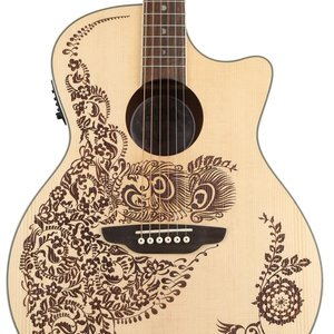 Luna Guitars Luna Henna Paradise A/E Spruce