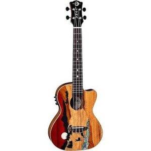 Luna Guitars Luna Uke Vista Deer Tenor w/Preamp and Gigbag