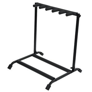 Gator Gator Rok-It Collapsible, Folding Guitar Rack Designed to Hold 5X Electric Or Acoustic Guitars. Foam Padded Support to Protect Guitar.