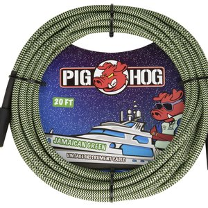 "Pig Hog Pig Hog ""Jamaican Green"" Instrument Cable, 20ft"