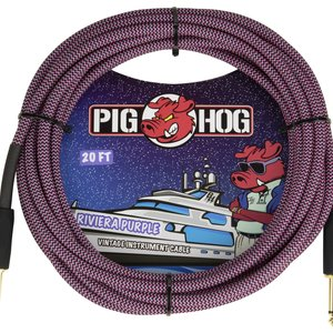 "Pig Hog Pig Hog ""Riviera Purple"" Instrument Cable, 20ft"