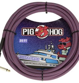 "Pig Hog Pig Hog ""Riviera Purple"" Instrument Cable, 20ft Right Angle"