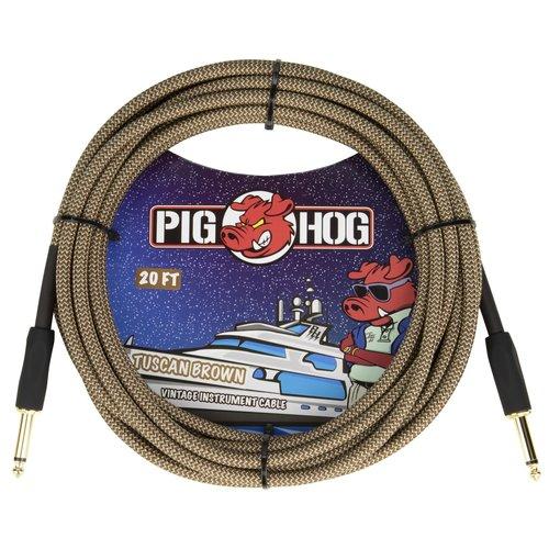 """Pig Hog Pig Hog """"Tuscan Brown"""" Instrument Cable, 20ft"""