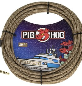 "Pig Hog Pig Hog ""Tuscan Brown"" Instrument Cable, 20ft Right Angle"
