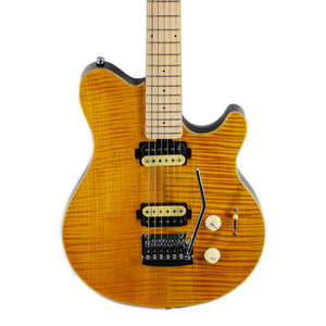 Sterling by Music Man Sterling by Music Man Axis, Flame Maple Top, Trans Gold
