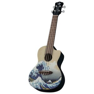 Luna Guitars Luna Uke Great Wave Concert w/Gigbag