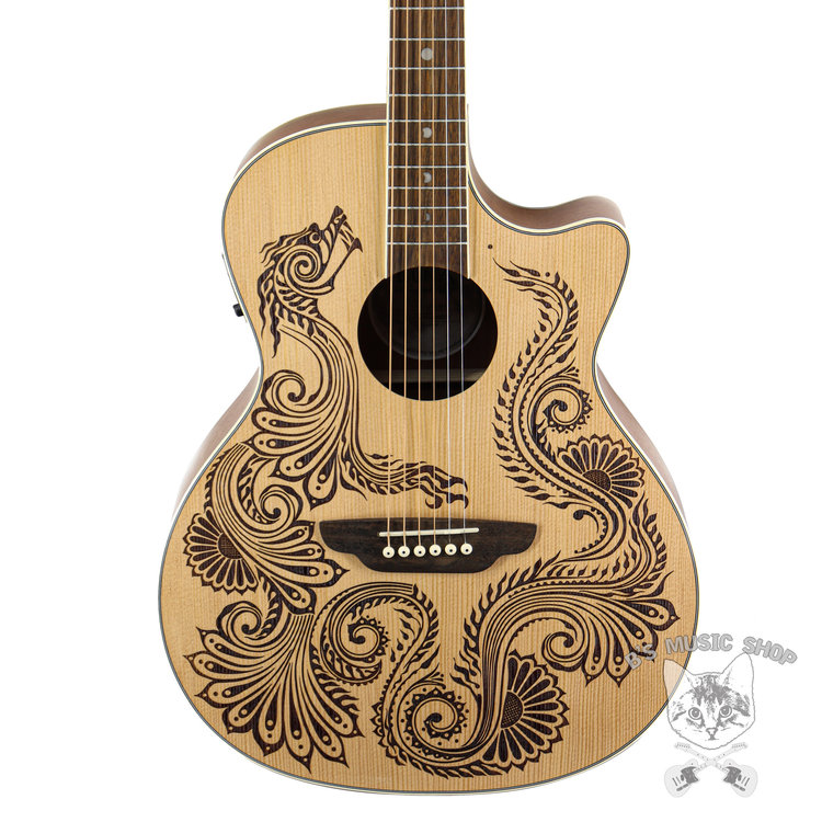 Luna Guitars Luna Henna Dragon A/E Spruce