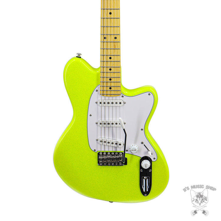 Ibanez Ibanez YY10SGS Yvette Young Signature 6str Electric Guitar - Slime Green Sparkle