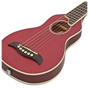 Washburn Washburn Rover Travel Guitar w/Gig Bag - Trans Red