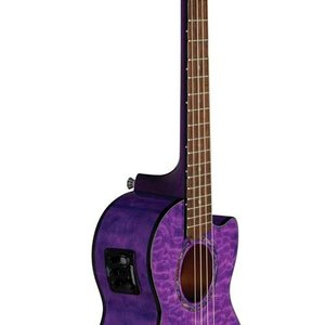 Lanikai Lanikai Quilted Maple Purple Cutaway Electric Tenor Ukulele w/Foam Case