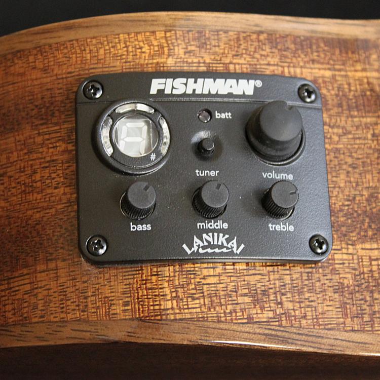 Lanikai Lanikai Mahogany Solid Cutaway Electric Tenor Ukulele w/Foam Case