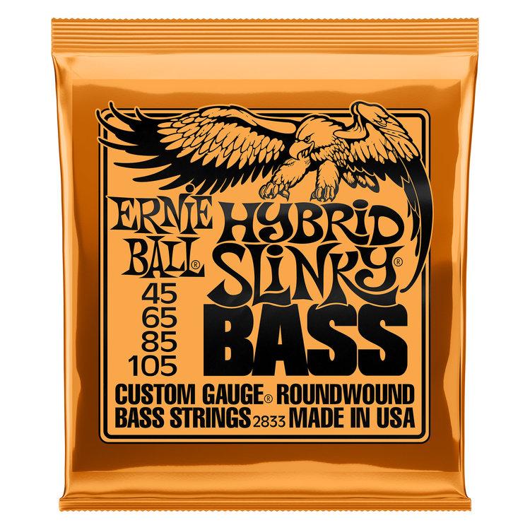 Ernie Ball Ernie Ball Hybrid Slinky Nickel Wound Electric Bass Strings - 45-105 Gauge