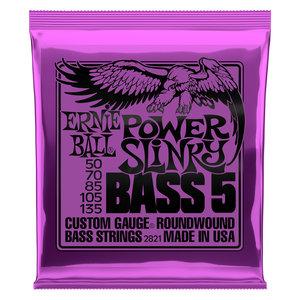 Ernie Ball Ernie Ball Power Slinky 5-String Nickel Wound Electric Bass Strings - 50-135 Gauge