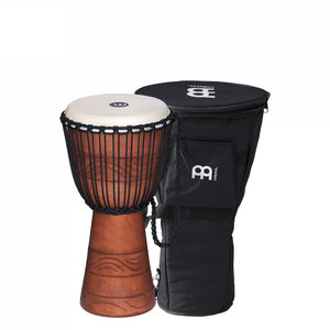 """Meinl Percussion Meinl 10"""" Water Rhythm Original African Style Rope Tuned Wood Djembe w/Bag"""