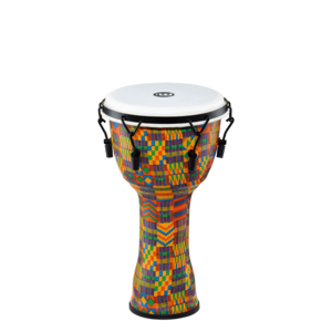 """Meinl Percussion Meinl 10"""" Mechanical Tuned Travel Series Djembe, Kenyan Quilt, Synthetic Head"""
