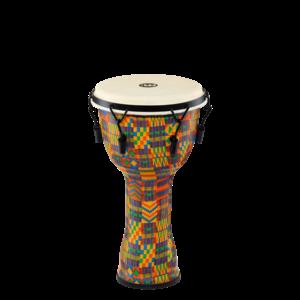 "Meinl Percussion Meinl 10"" Mechanical Tuned Travel Series Djembe, Kenyan Quilt, Goat Head"