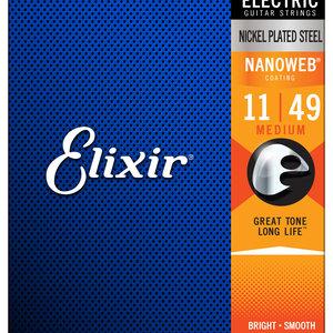 Elixir Elixir Nanoweb Electric Guitar Strings - Medium 11-49